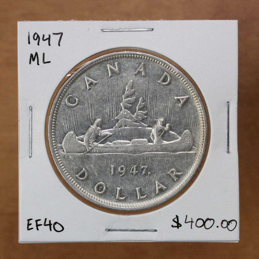 SOLD - 1947 - Canada - $1 - ML - EF40