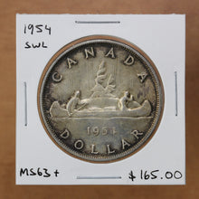 Load image into Gallery viewer, 1954 - Canada - $1 - SWL - MS63+