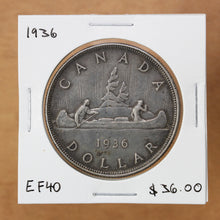 Load image into Gallery viewer, SOLD - 1936 - Canada - $1 - EF40