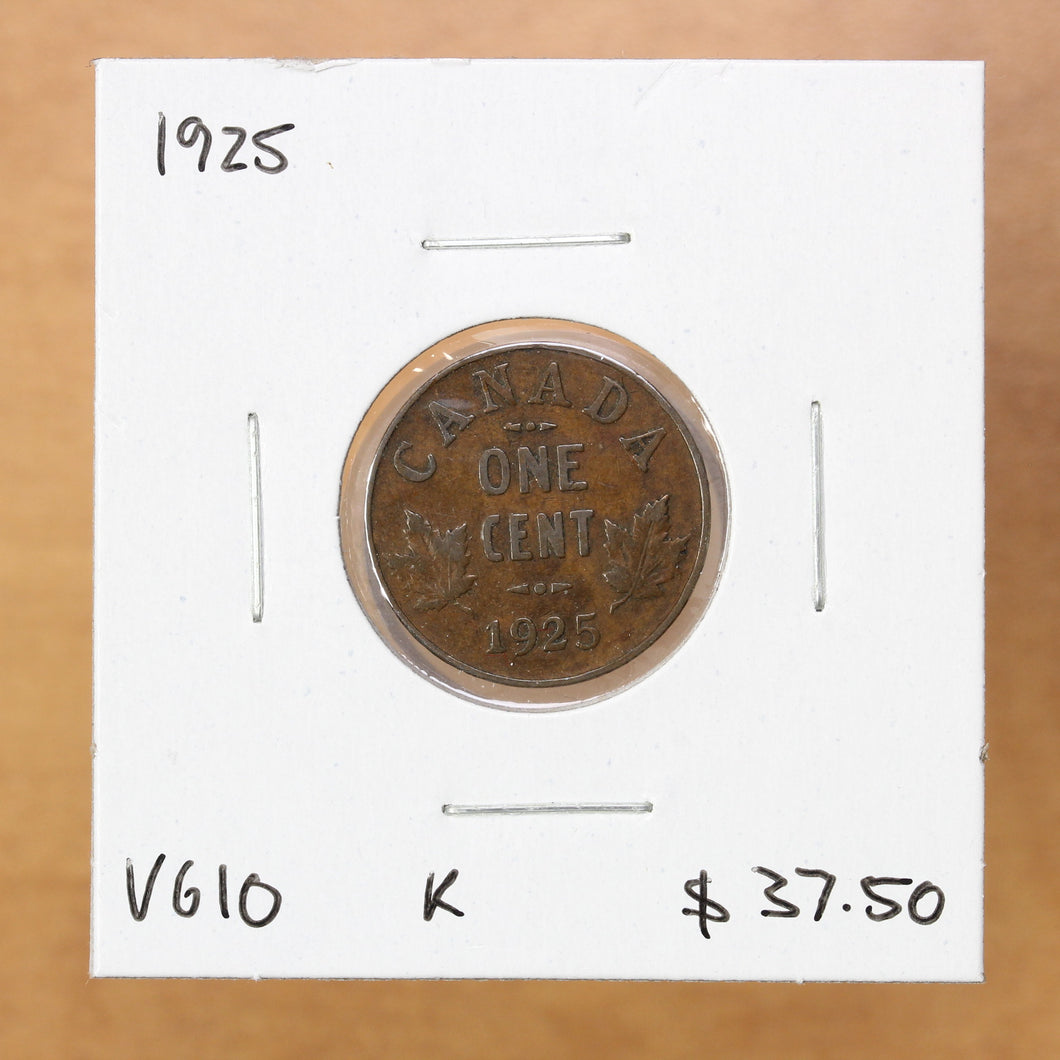 SOLD - 1925 - Canada - 1c - VG10 - retail $37.50