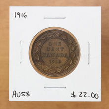 Load image into Gallery viewer, 1916 - Canada - 1c - AU58 - retail $22