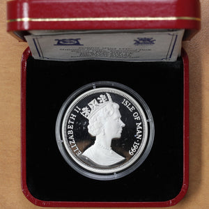 SOLD - 1999 - Isle of Man - 1 Crown - 30th Anniv. First Man on the Moon - Proof - retail $50