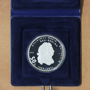 1988 - Netherlands - 50 Gulden - 300th Anniversary of William and Mary - Proof - retail $45