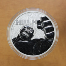 Load image into Gallery viewer, 2019 - Tuvalu - $1 - Hulk (Marvel) - Pure Silver - 1 oz. Round