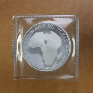 SOLD - 2017 - Chad - 5000 Francs - African Lion - Fine Silver - 1 oz. Round
