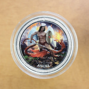 SOLD - 2016 - Isle of Man - Angel (Coloured) - Fine Silver - 1 oz. Round