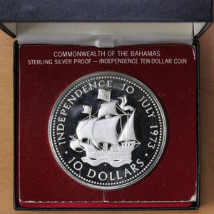 1973 FM - Bahamas - 10 Dollars - Independence Day - Proof