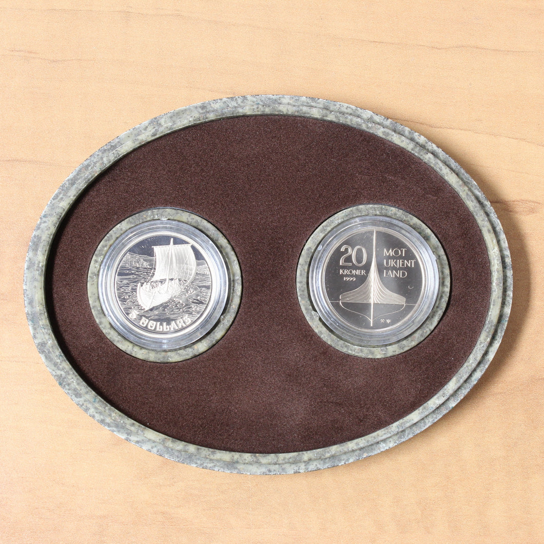 1999 - Canada - $5 - The Viking Settlement Set - Proof - retail $50