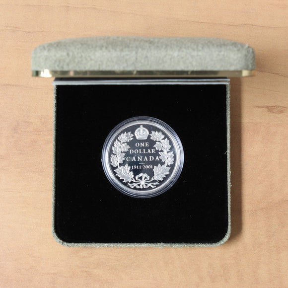 SOLD - 2001 - Canada - $1 - 90th Anniv. Canada's 1911 Silver Dollar - Proof - retail $50.00