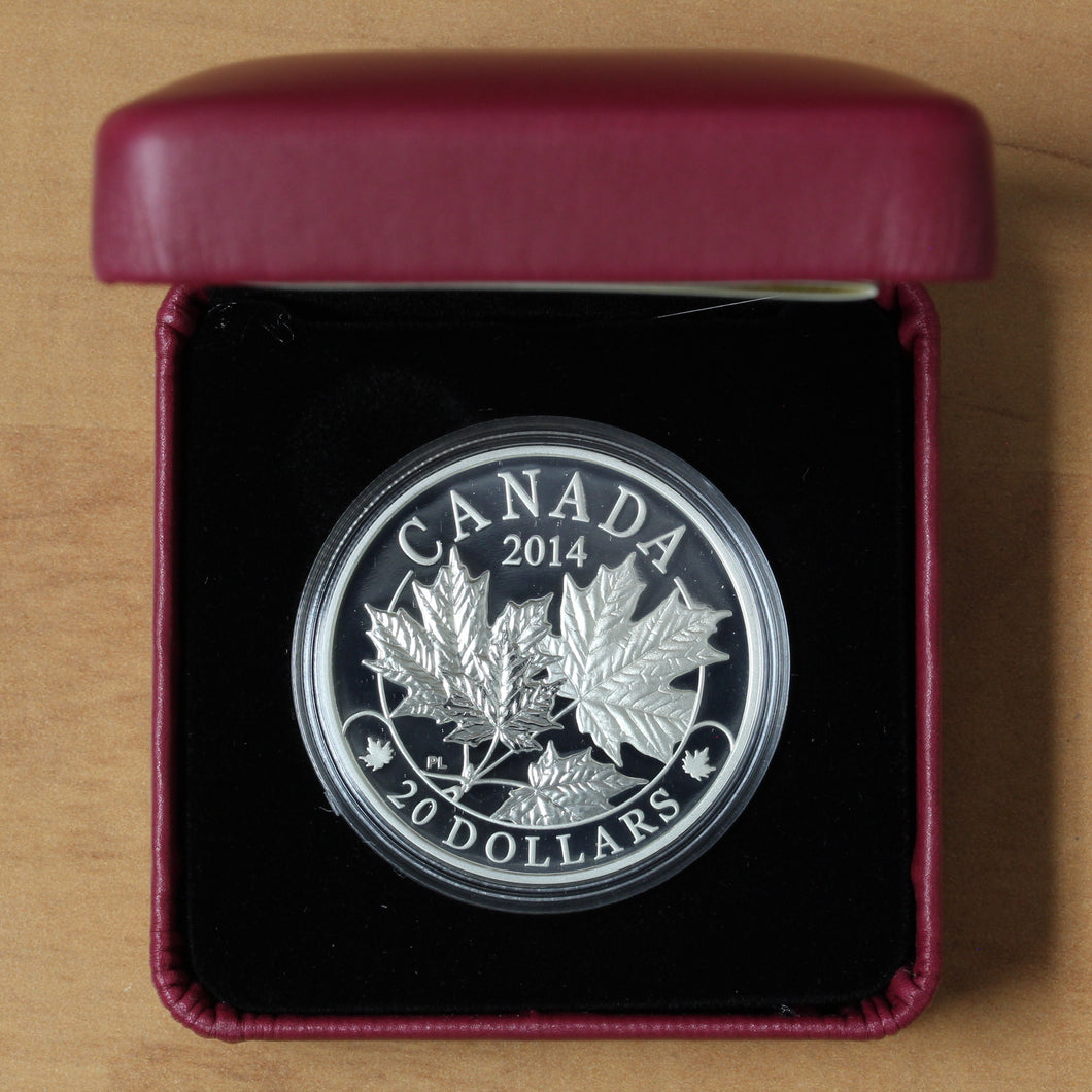 2014 - Canada - $20 - Majestic Maple Leaves - Proof - retail $80