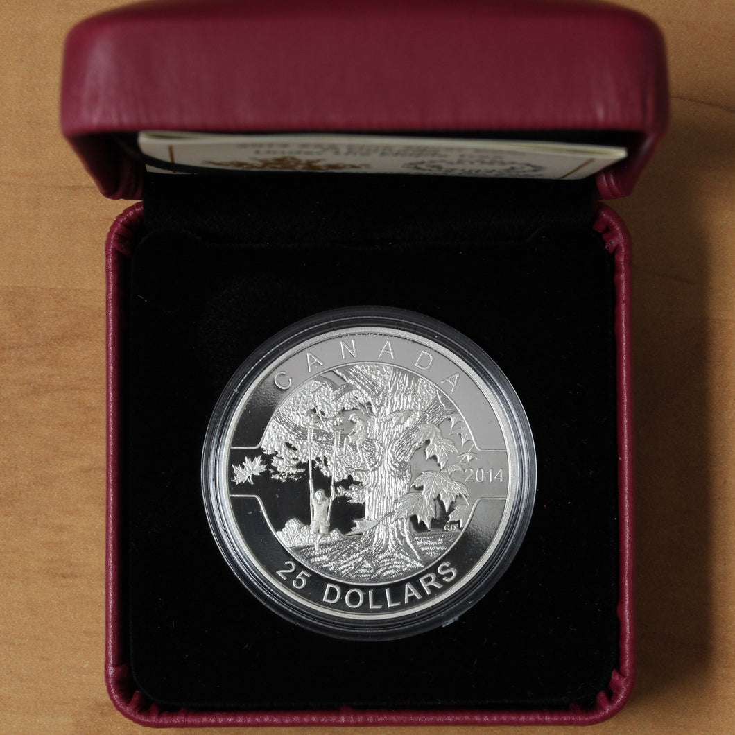 SOLD - 2014 - Canada - $25 - Under the Maple Tree - Proof - retail $75
