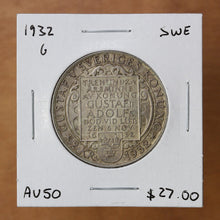 Load image into Gallery viewer, 1932 G - Sweden - 2 Kronor - AU50