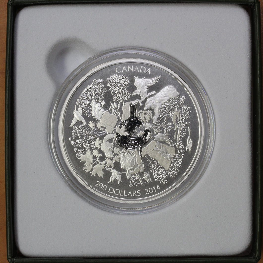 2014 - Canada - $200 - Towering Forests of Canada - Matte Proof