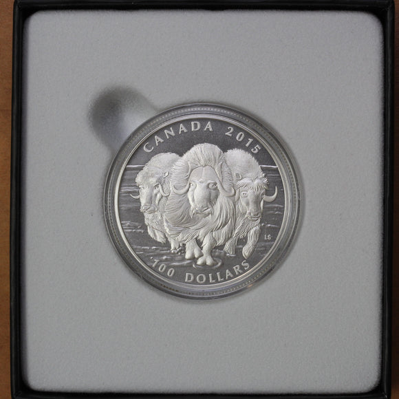 SOLD - 2015 - Canada - $100 - Musk Ox - Matte Proof