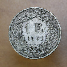Load image into Gallery viewer, 1861 - Switzerland - 1 Franc - VF20