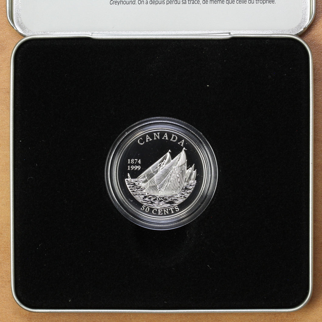 1999 - Canada - 50 cents - First Int'l Yacht Race between Canada and USA - Proof