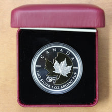 Load image into Gallery viewer, SOLD - 2013 - Canada - $5 - 25th Anniversary of the Silver Maple Leaf - Proof - retail $80