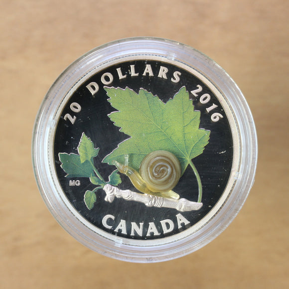 SOLD - 2016 - Canada - $20 - Snail - Proof - retail $130 - 40% OFF!