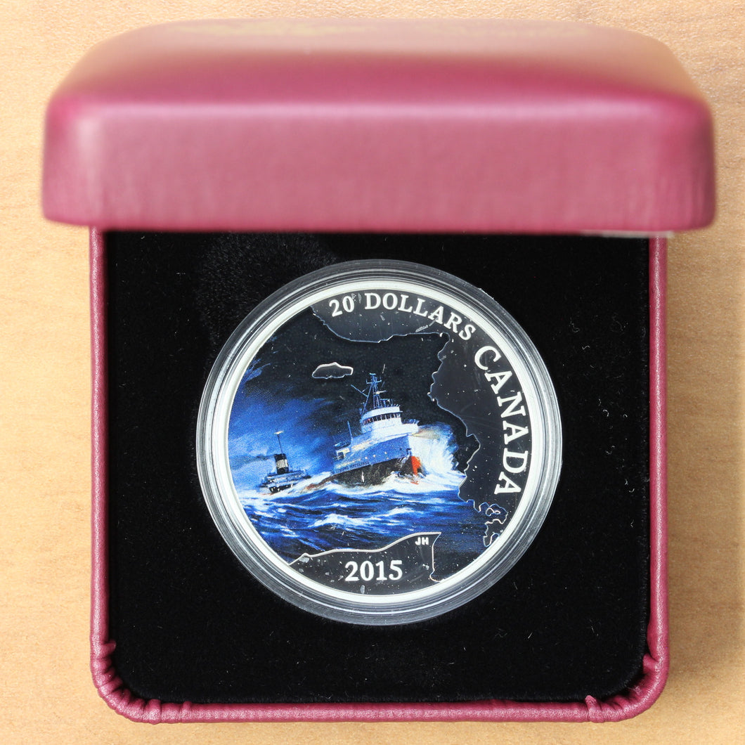SOLD - 2015 - Canada - $20 - S.S. Edmund Fitzgerald - Proof - retail $90 - 40% OFF!