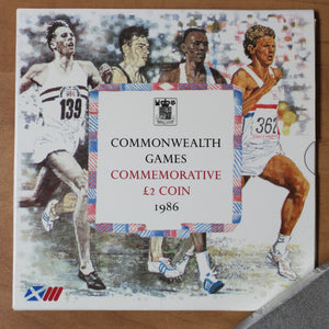 1986 - Great Britain - 2 Pounds - Commonwealth Games Folder