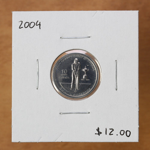 2004 - Canada - 10c - 100th Anniv. of Canadian Open Golf Championship - BU - retail $12
