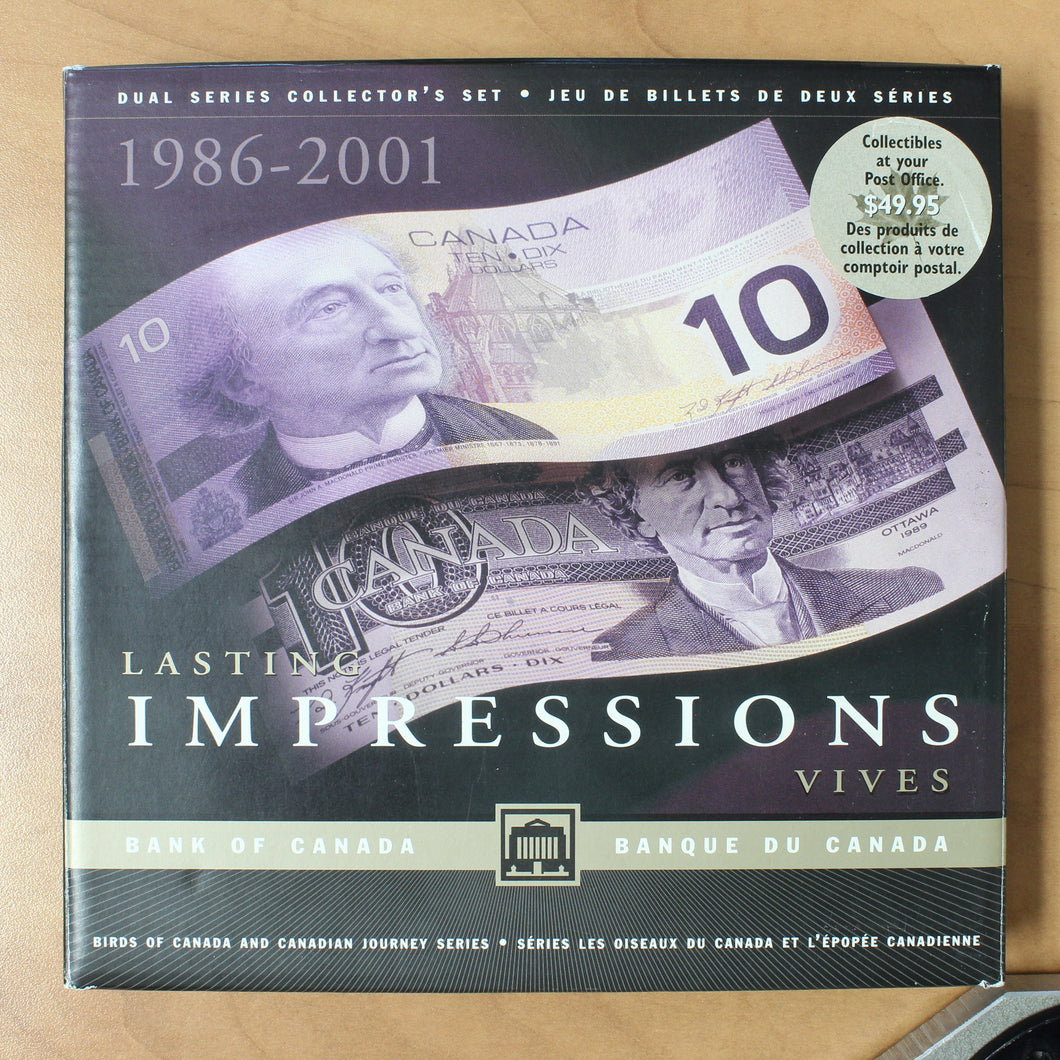 1986-2001 - Bank of Canada - $10 - Lasting Impressions Set