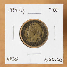 Load image into Gallery viewer, 1924 (a) - Togo - 1 Franc - VF35 - retail $50