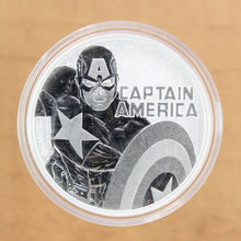 Load image into Gallery viewer, 2019 - Tuvalu - $1 - Captain America (Marvel) - Pure Silver - 1 oz. Round