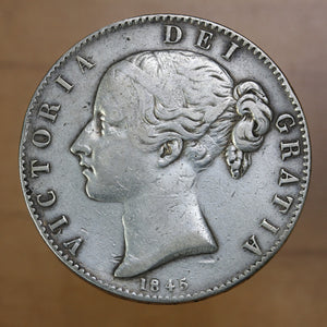 SOLD - 1845 - Great Britain - 1 Crown - F12
