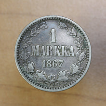 Load image into Gallery viewer, 1867 S - Finland - 1 Markka - F12 - retail $27
