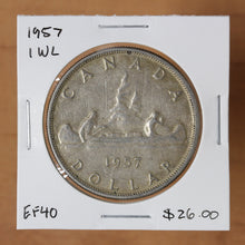 Load image into Gallery viewer, 1957 - Canada - $1 - 1 WL - EF40