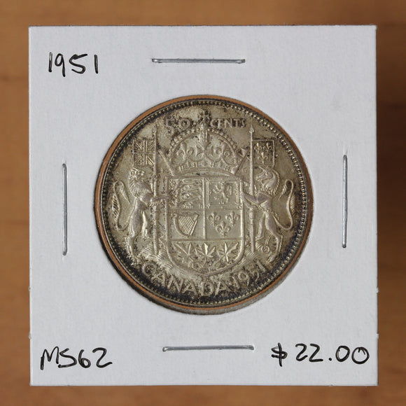 SOLD - 1951 - Canada - 50c - MS62