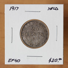 Load image into Gallery viewer, 1917c - Newfoundland - 25c - EF40 - retail $20
