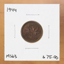 Load image into Gallery viewer, 1944 - Canada - 1c - MS63 - retail $75