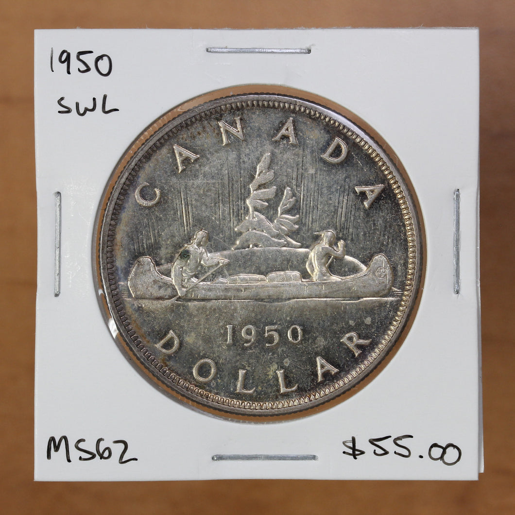 SOLD - 1950 - Canada - $1 - SWL - MS62