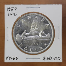 Load image into Gallery viewer, 1957 - Canada - $1 - 1 WL - MS63 - retail $60