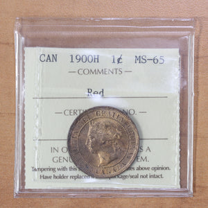 1900 H - Canada - 1c - MS65 (Red) ICCS - retail $500