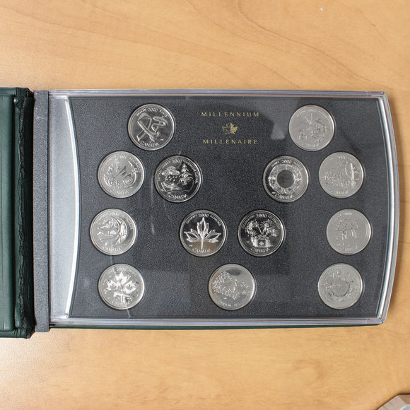 SOLD - 2000 - Canada - 25c - Millennium Special Edition Coin Set - retail $50