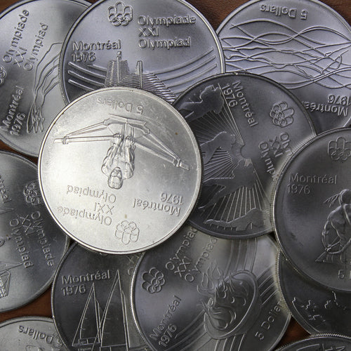 Montreal Summer Olympic Games - Sterling Silver $5 - (1973-1976)