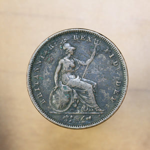 1831 - Great Britain - 1 Penny - F15 - retail $60
