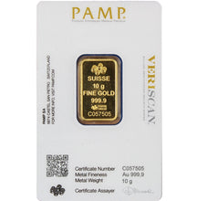 Load image into Gallery viewer, PAMP Suisse Gold Bar - 10 grams
