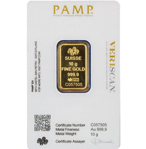 PAMP Suisse Gold Bar - 10 grams