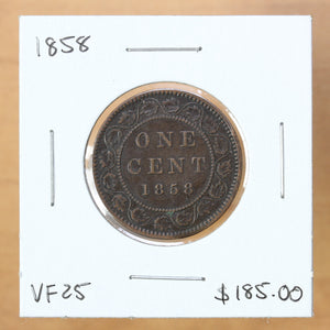 SOLD - 1858 - Canada - 1c - VF25
