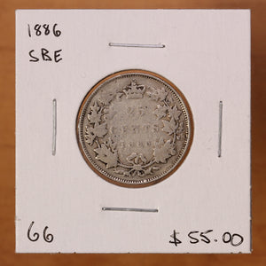 1886 - Canada - 25c - SBE - G6 - retail $55