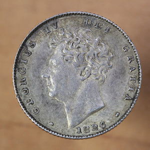 1826 - Great Britain - 6 pence - AU50