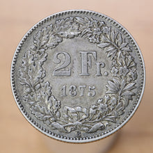 Load image into Gallery viewer, 1875 B - Switzerland - 2 Francs - EF40