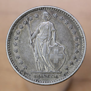 1875 B - Switzerland - 2 Francs - EF40