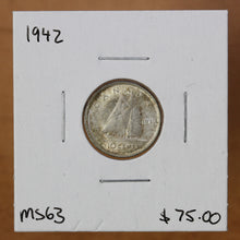 Load image into Gallery viewer, 1942 - Canada - 10c - MS63 - retail $75