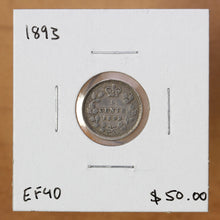 Load image into Gallery viewer, 1893 - Canada - 5c - EF40 - retail $50