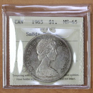 1965 - Canada - $1 - SmBds Ptd 5 - MS65 ICCS - retail $450